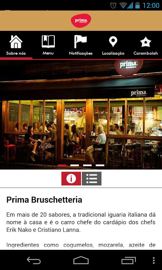 Prima Bruschetteria- screenshot