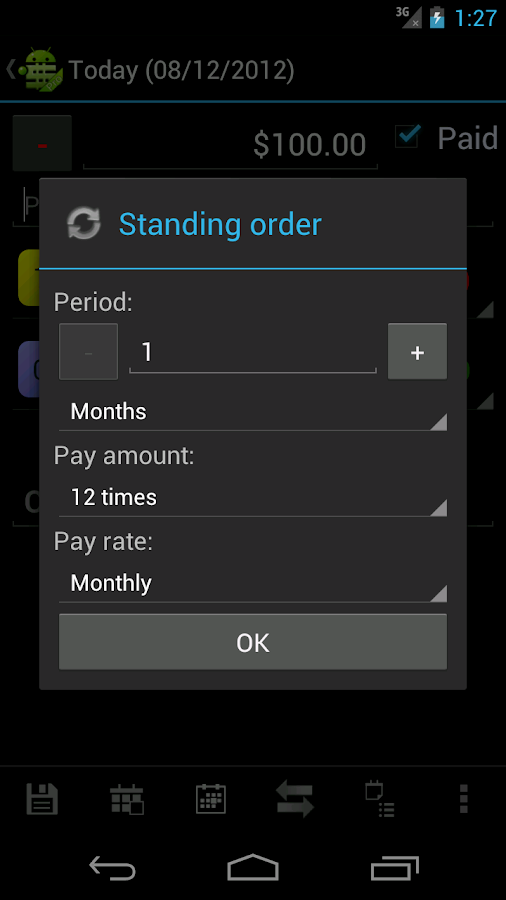MoneyDroid Pro - screenshot