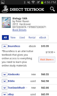 Direct Textbook Price Search - screenshot thumbnail