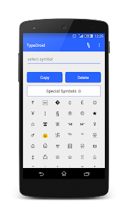 Type Droid (1000+ symbols)- screenshot thumbnail
