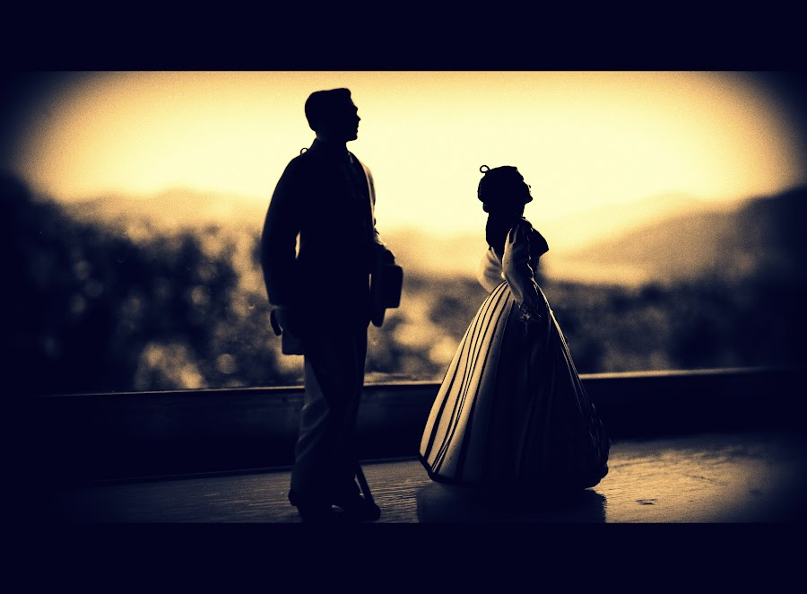 Gone with The Wind by Matt Dittsworth - Artistic Objects Toys ( toy, silhouette, movie, still, yellow, gold )