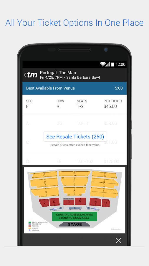 Ticketmaster - screenshot