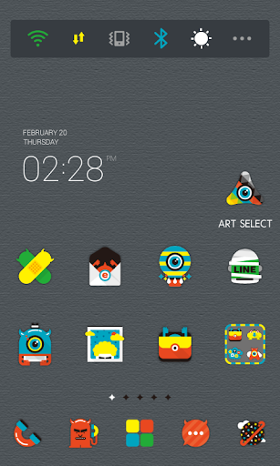 Colorful Monster dodol theme