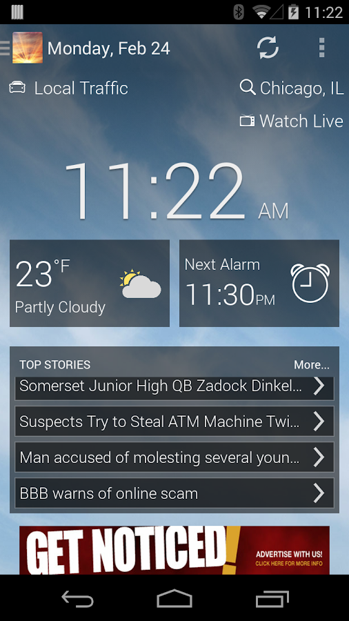 KOKH AM NEWS AND ALARM CLOCK- screenshot