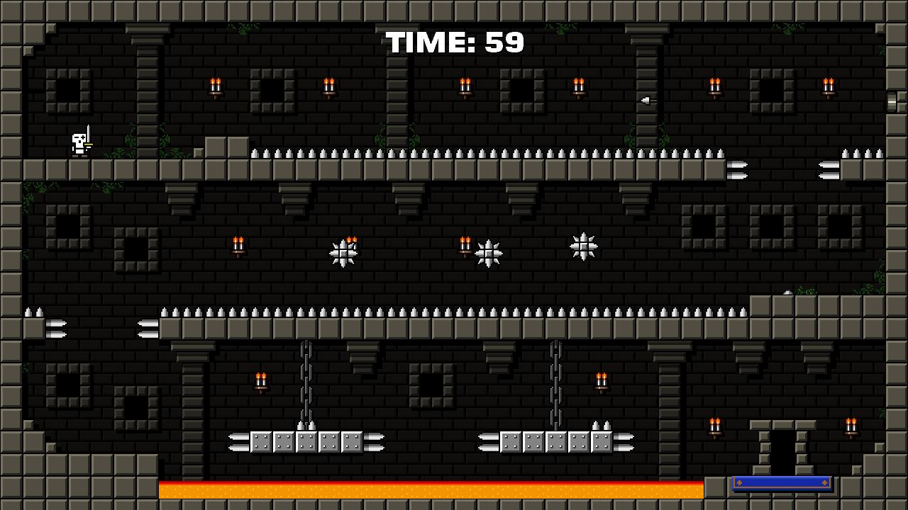 Castle Of Pixel Skulls: captura de pantalla
