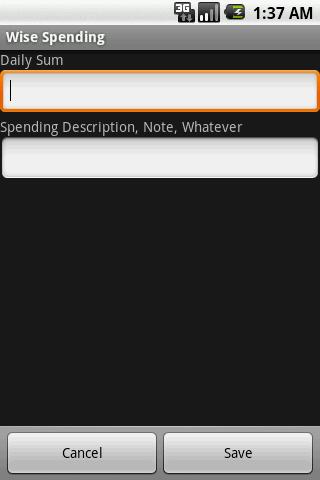 Wise Spending- screenshot