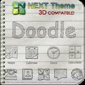 Next Launcher Theme Doodle 3D