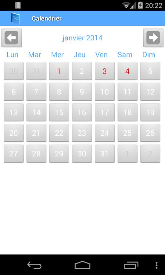 Agenda scolaire - screenshot