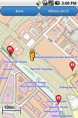 Moscow Amenities Map free