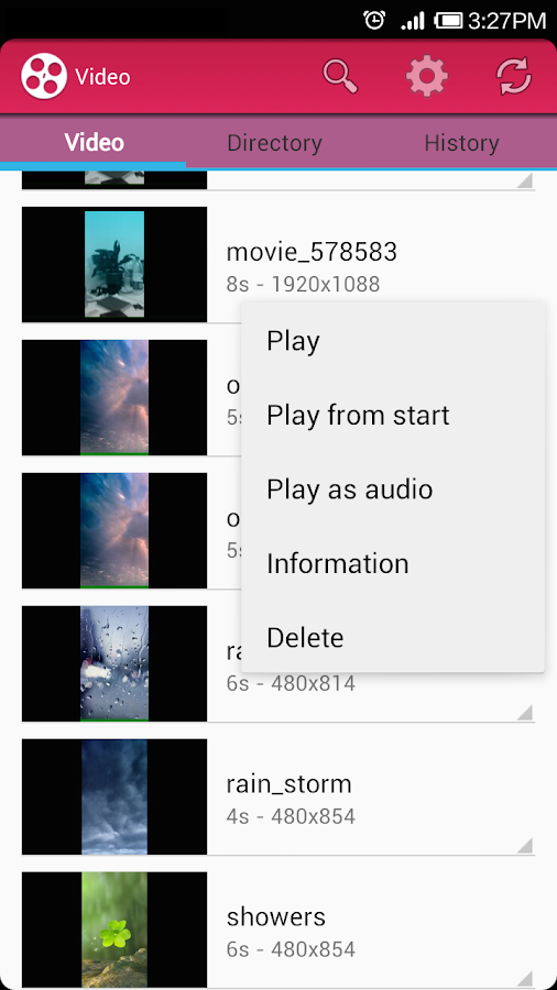 Video Player Lite - screenshot