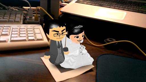 結婚報告ARアプリ