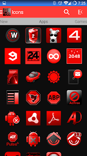 BloodRed Icon Pack- screenshot thumbnail