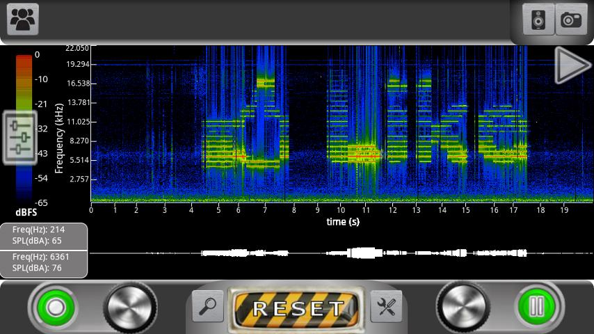 ProSpec - Spectrum Analyzer - screenshot