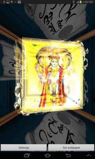 3D Lord Vishnu Live Wallpaper 2.3 screenshots 2