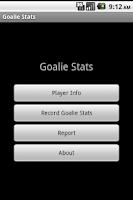 Screenshot of Youth Soccer Goalie Stats