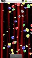 Screenshot of Rain of Diamonds LiveWallpaper