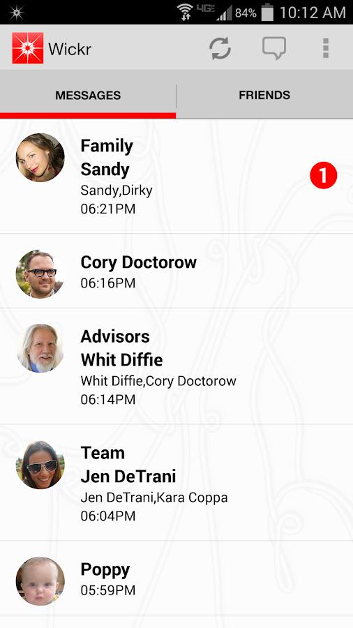 Wickr-Top Secret Messenger - screenshot