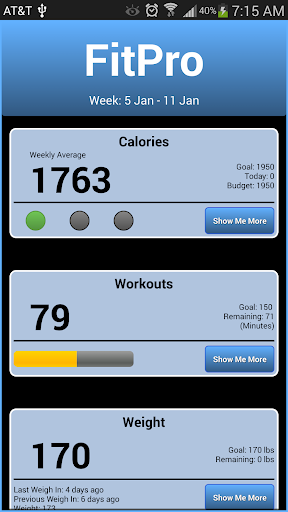 Calorie Weight Tracker FitPro