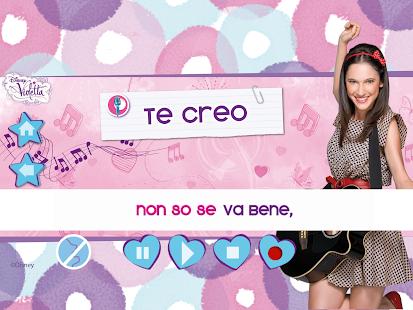 Violetta Digital Card - España - screenshot thumbnail