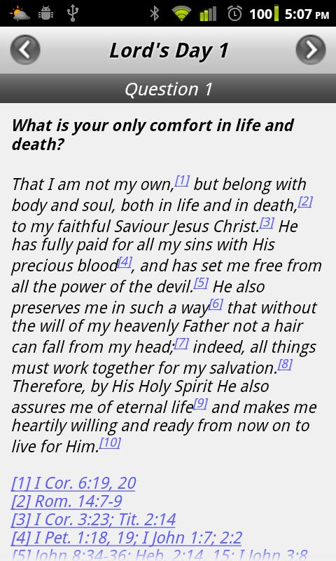 Heidelberg Catechism- screenshot