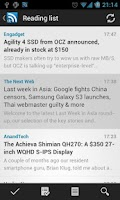 Screenshot of D7 Reader (RSS | News)