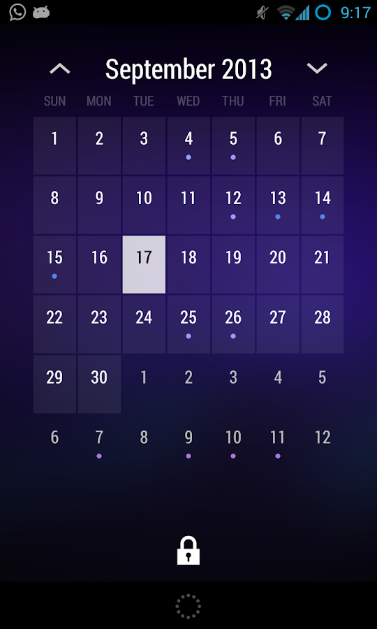 Today - Calendrier - screenshot