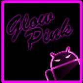 GOKeyboard Theme Glow Pink