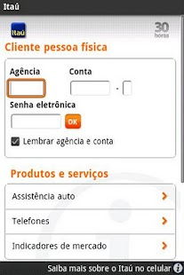 Itaú - screenshot thumbnail