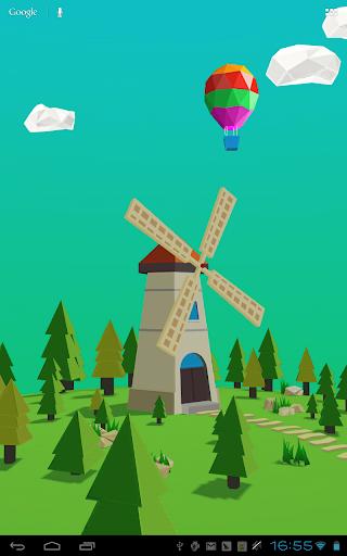 风车3D壁纸