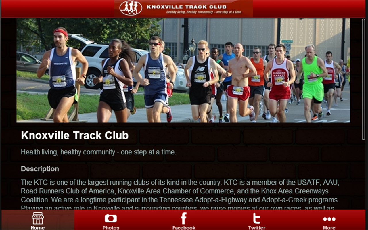 Knoxville Track Club- screenshot