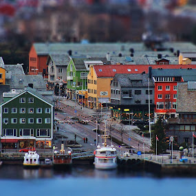 Kristiansund by Jan Helge - City,  Street & Park  Vistas ( boats, buildings, city, norway, kristiansund )