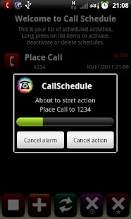Call Schedule Lite - screenshot thumbnail