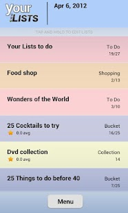 Your Task | Custom Lists - screenshot thumbnail