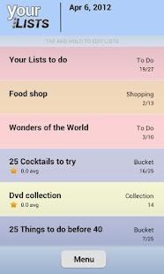 Your Task | Custom Lists - screenshot thumbnail