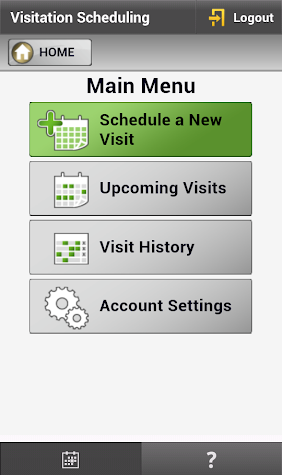 GTL - Schedule Visits (1 of 2) Screenshot