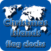 Christmas Island flag clocks