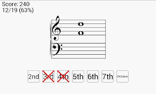 Interval Cards Music Theory- screenshot thumbnail