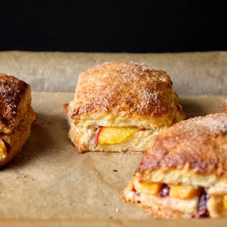 Peach Cobbler Scones.