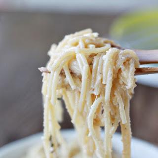 Brown Butter Parmesan Spaghetti.