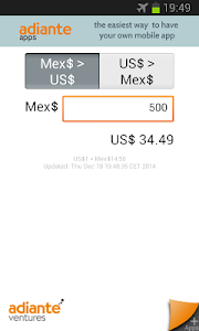 US Dollar to Mexican Peso screenshot 0