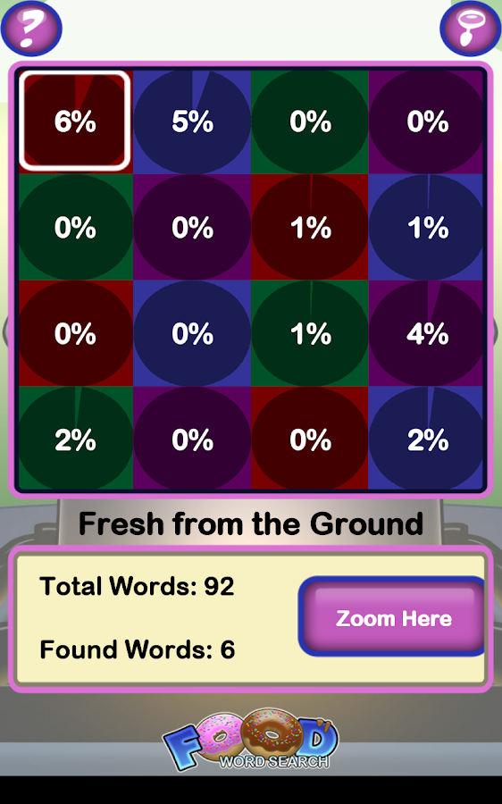 Epic Food Word Search- screenshot