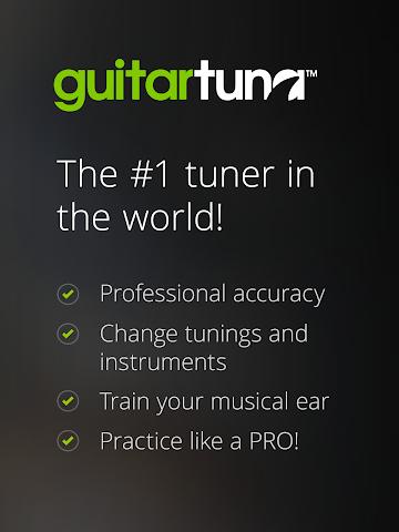 android Accordeur Guitares -GuitarTuna Screenshot 1
