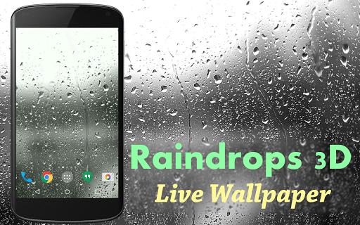雨滴の3Dライブ壁紙