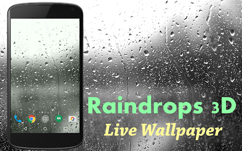 Raindrops 3D Live Wallpaper