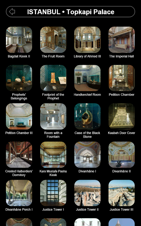 Sites in 3D - screenshot