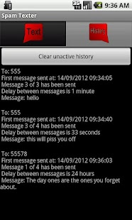 Spam Texter - screenshot thumbnail