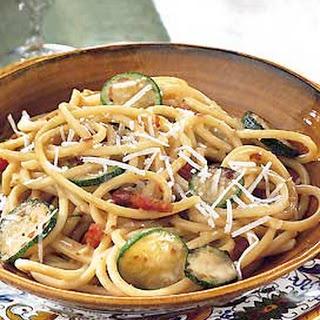 Bucatini Carbonara with Zucchini