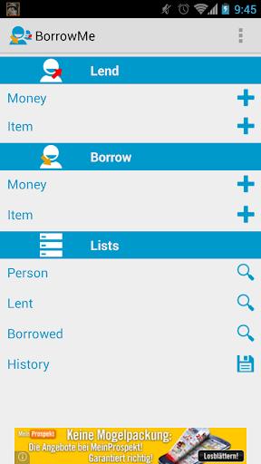 Borrow and lend items or money