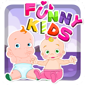 Funny Kids Kissing