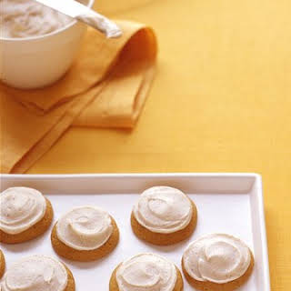 Pumpkin Cookies with Brown Butter Icing.